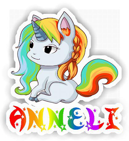 Cute Vinyl Sticker With A Cute Unicorn For Anneli Sticken