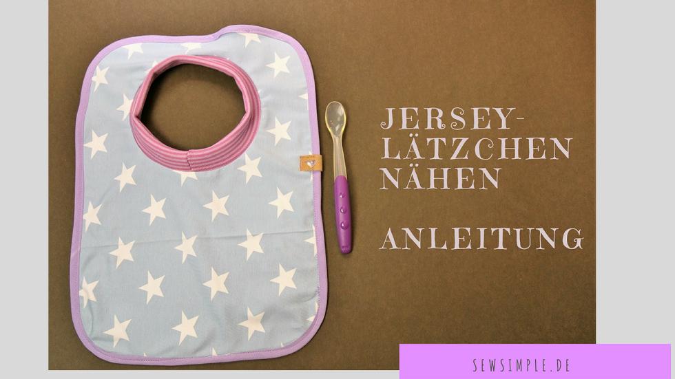 Jersey-Lätzchen nähen | Pinterest | Lätzchen, Kostenlos und Schnell