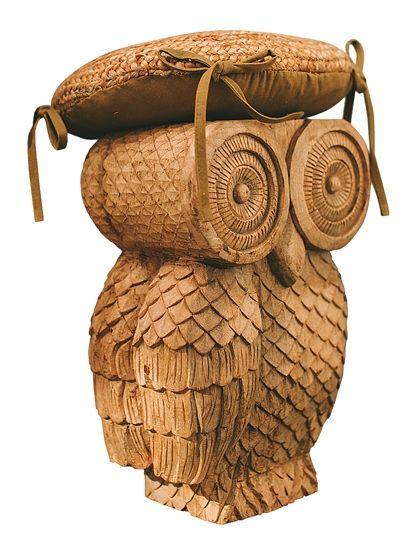 Ullu Owl Stool Wood Stool Furniture Owl