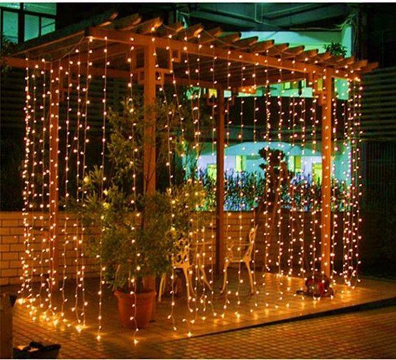 800 Led Waterproof String Fairy Curtain Light Outdoor Party Wedding Xmas Decor 220v 8mx3m Dining Lighting