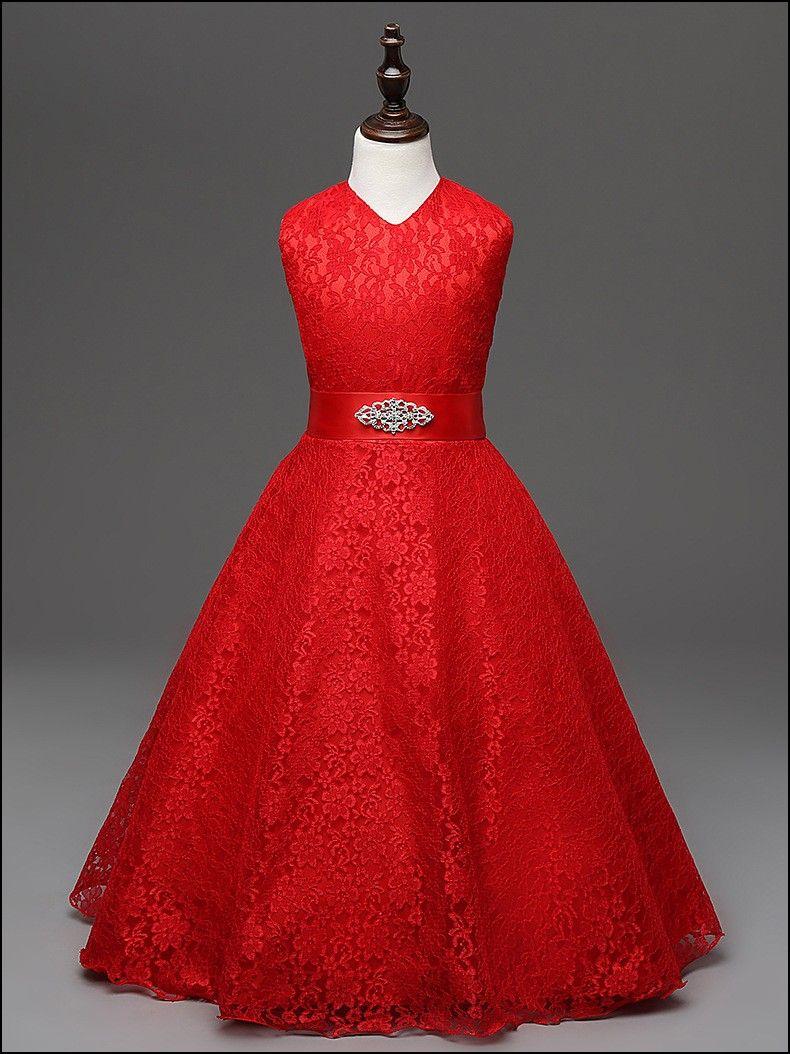 13 Years Old Girl Dresses 13 Year Girl Dress Red Flower Girl Dresses Girls Lace Dress [ 1054 x 790 Pixel ]