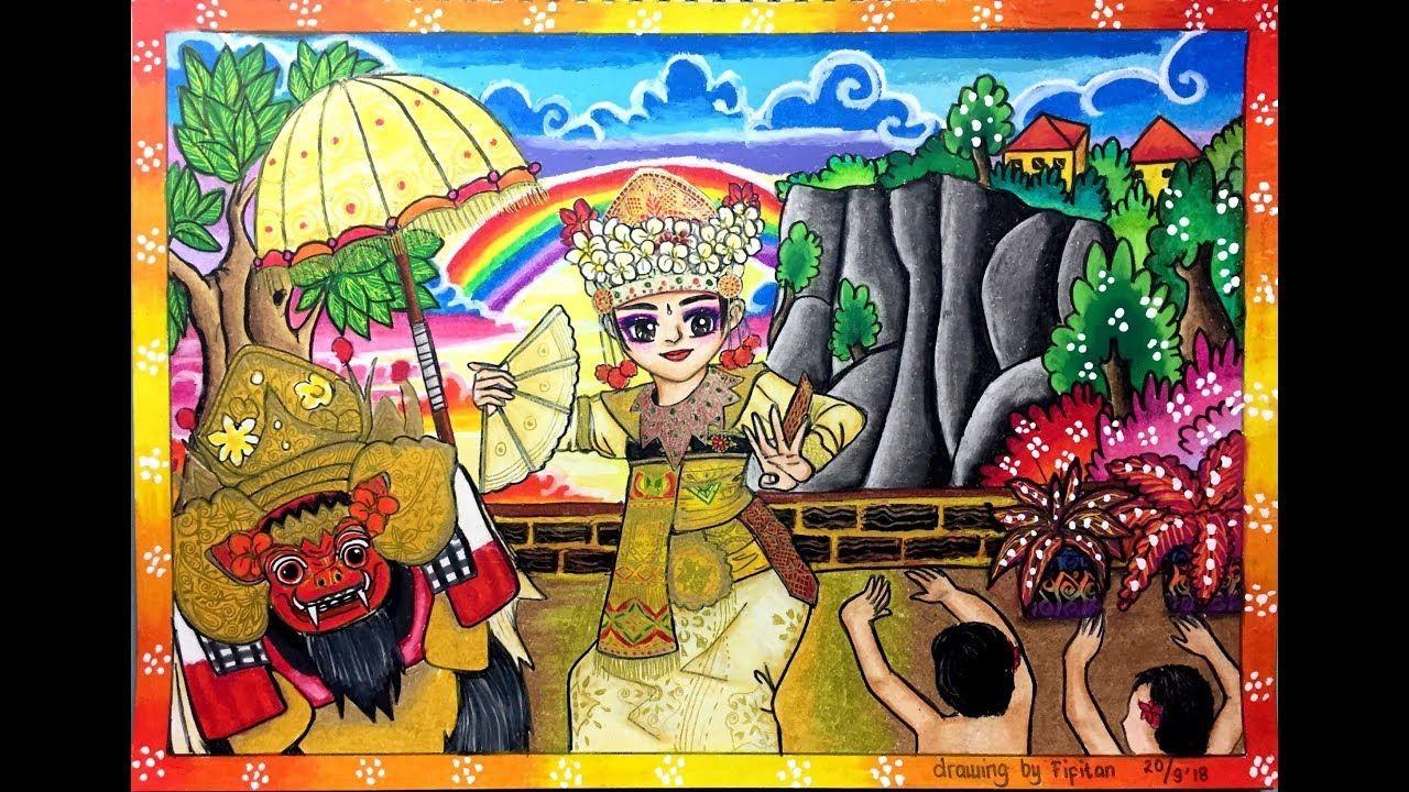 Cara Menggambar Dan Gradasi Warna Tema Kebudayaan Indonesia