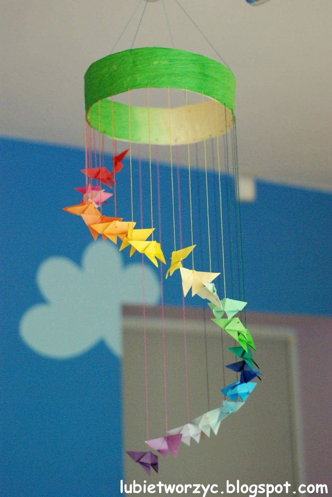 Girlanda Z Motylami Origami Art N Craft Crafts Paper Crafts