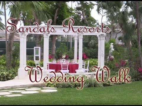 Our Wedding Walk at Sandals Royal Bahamian Resort in the Bahamas.  See what your wedding can look like from the brides point of view.    #SandalsResorts #wedding #weddingwalk #destinationweddings #honeymoon