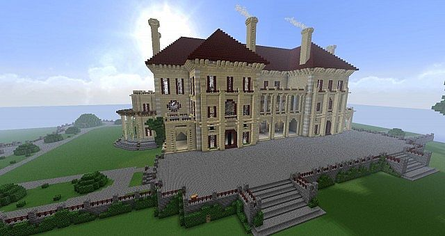 Lego Mansion Minecraft Creations Ideas Designs Stuff Big Houses Buildings