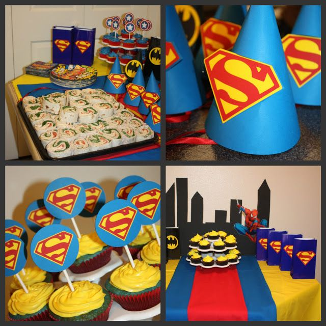 Super Heroes Birthday Party Ideas Babies Birthdays and Superman