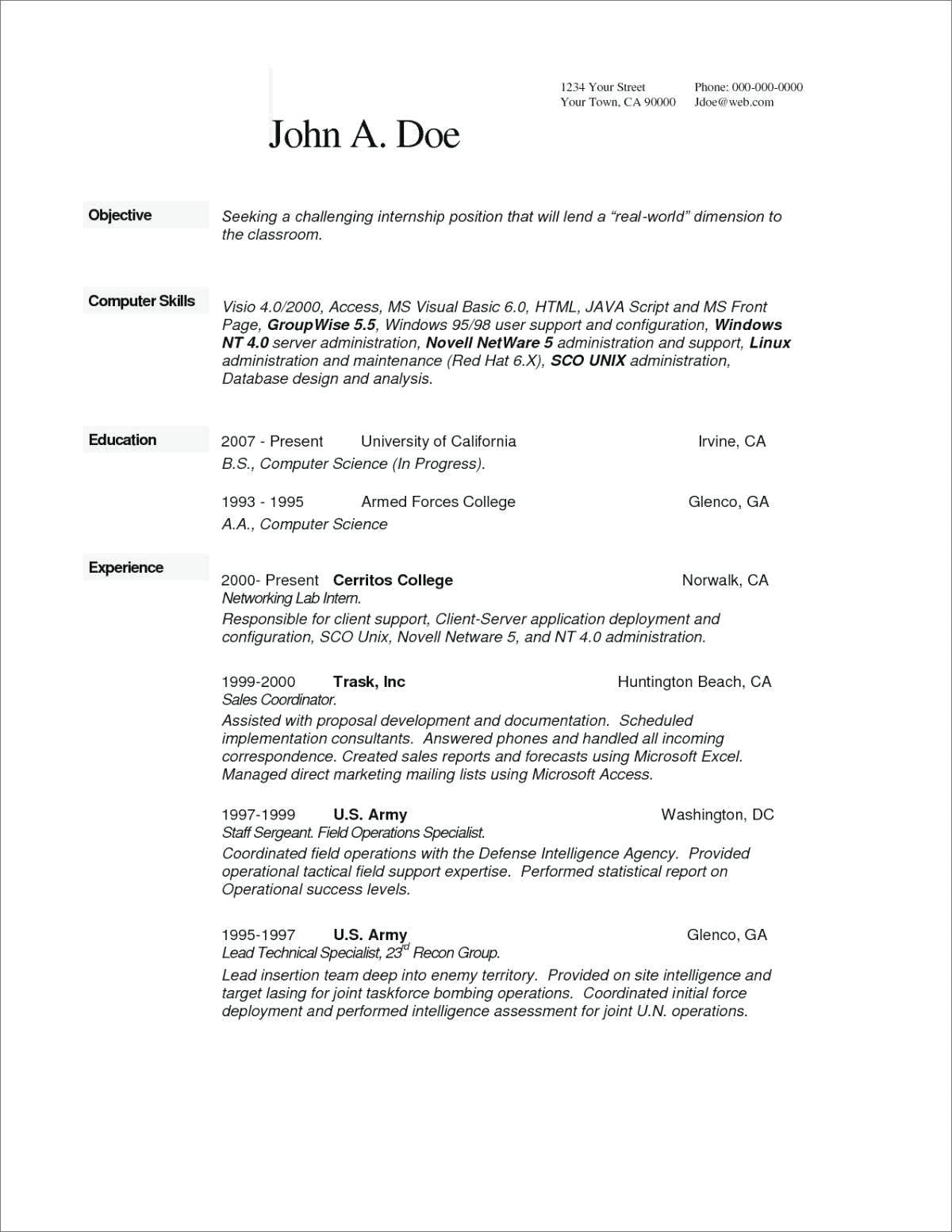 Computer Technician Resume Skills Best Of Resume Networking Resume Objective Resume Skills Resume Examples Best Resume Template