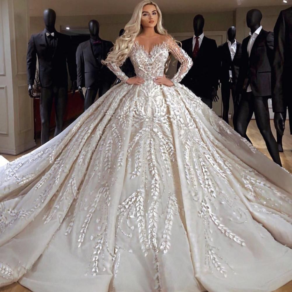 97102d0133 ball gown wedding dresses 2019 sweetheart neckline lace appliques ...