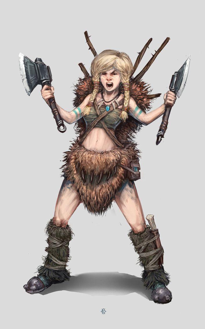 Grida, the barbarian virgin by Fesbraa on DeviantArt ...