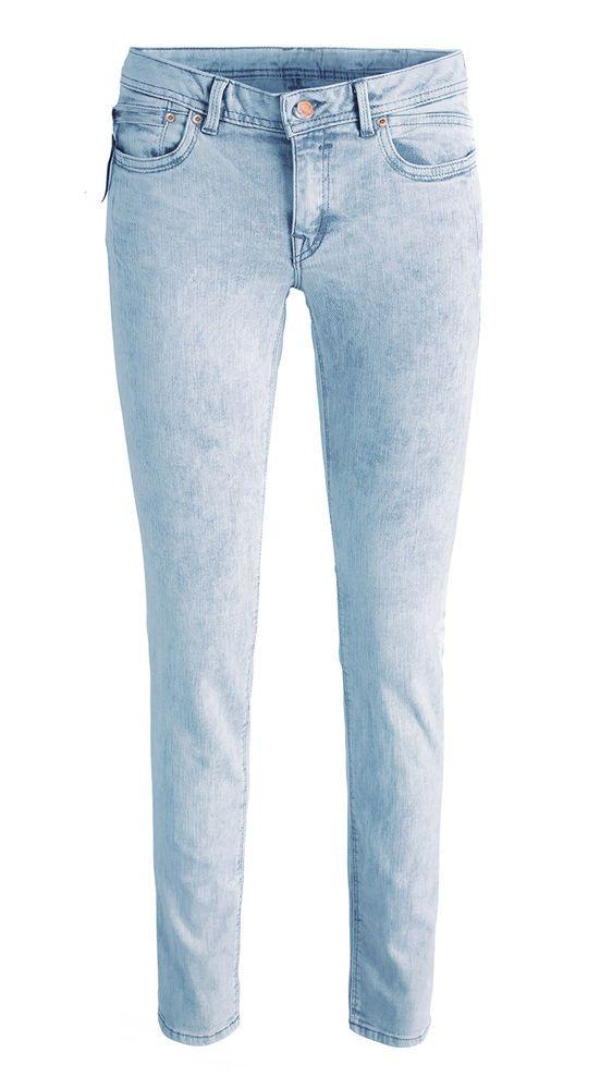damen jeans r hre hellblau lang ebay fashion. Black Bedroom Furniture Sets. Home Design Ideas