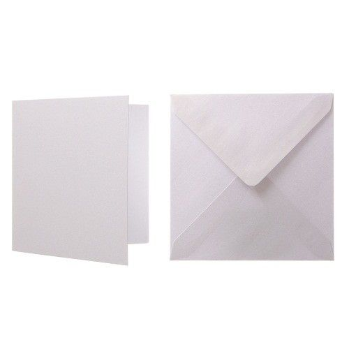1000 x Square Quality Cream Envelopes For Greeting Cards 100gsm 155mm x 155mm