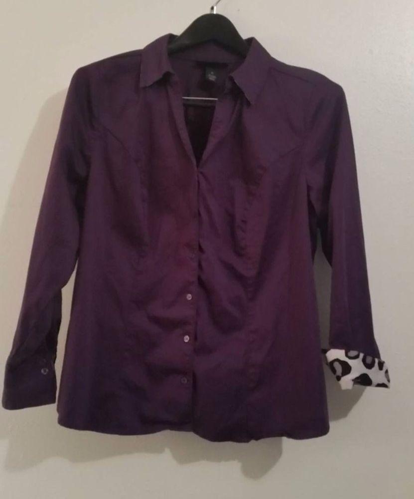 Lane Bryant shirt blouse top long sleeve purple shirt plus size 20 XXL 2X #Avenue #blousetopshirt