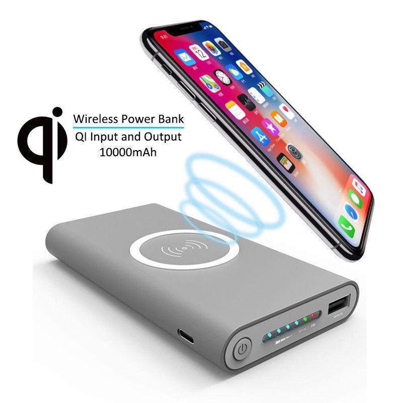 Iphone Wireless Qi Power Bank Charger 6 Wireless Charger Powerbank Samsung Phone