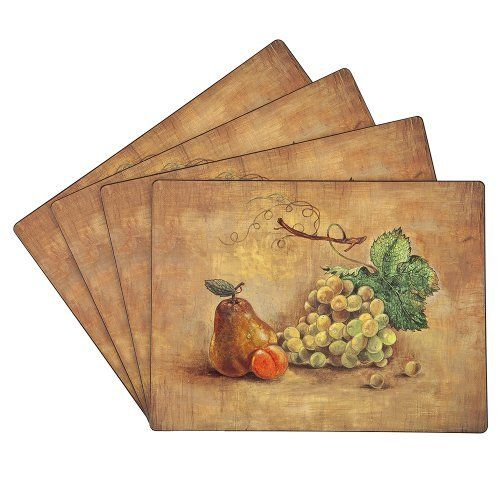 Benson Mills Cork Placemats Pears Set Of 4 By Benson Mills 21 76 Protects Your Table While Bringing Elegance To Yo Placemats Wine Decor Dining Place Mats