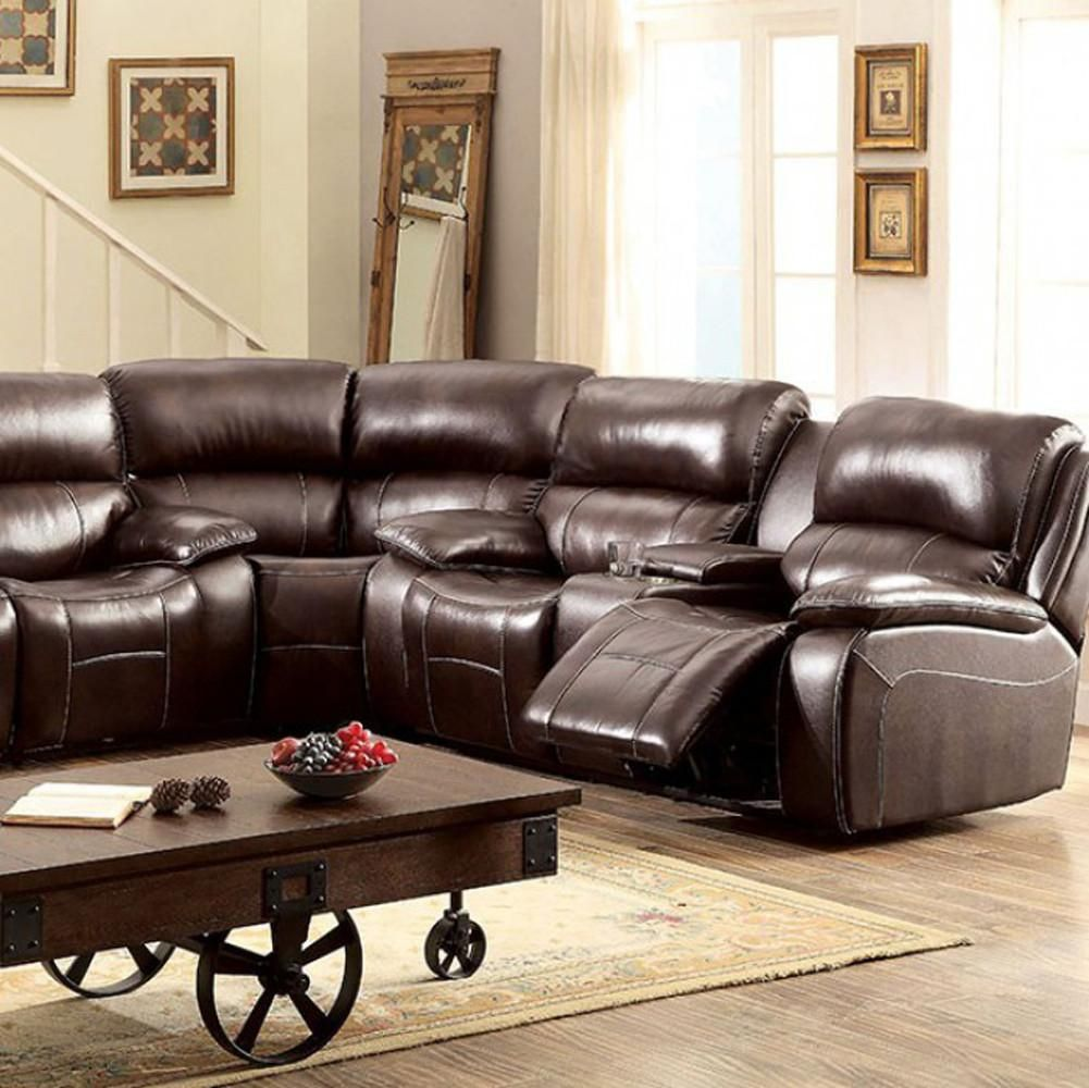 Ruth Transitional Corner Chair, Brown Color