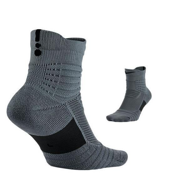 Nike Mens Elite Versatility Gray Drifit Basketball Mid Socks Sz 12 15 Sx5370 065 Nike Men Basketball Socks Socks