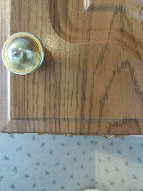 How Do I Paint These Peeling Paper Covered Cabinets? | Paper Cover,  Kitchens And House