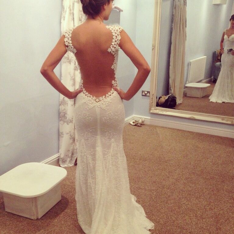 Wow whole open back wedding dress too sexy sexy back for Sexy open back wedding dress