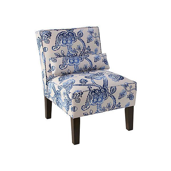 Best Bergman Chair Cobalt Toile Accent Occasional Chairs 400 x 300