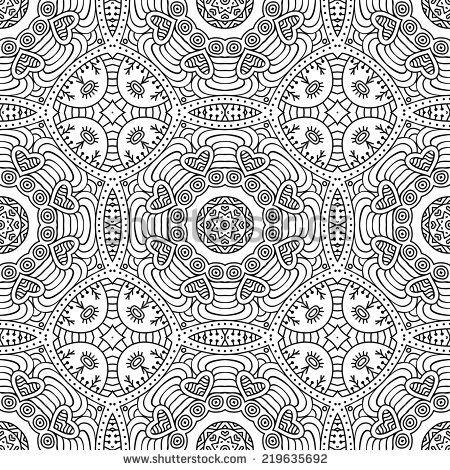 Indian Seamless Pattern Vintage Decorative Elements Hand