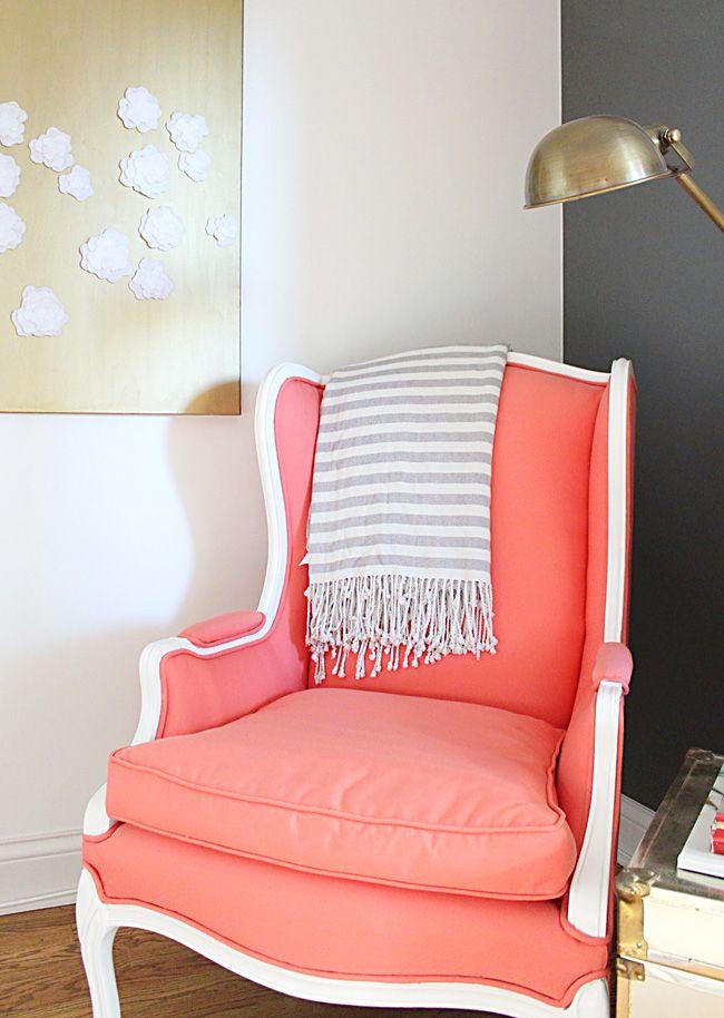 Coral Armchair, sunbrella fabric | Crafty | Pinterest | Armchairs ...