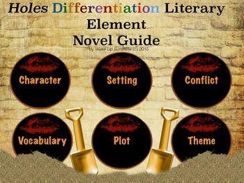 Holes Differentiation Literary Element Novel Guide Novel Guides Literary Elements Differentiation