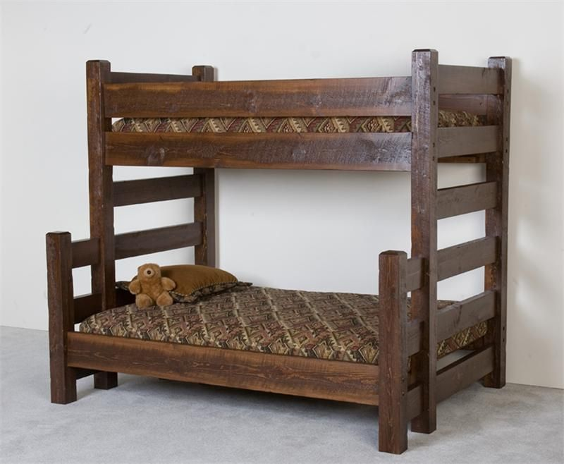 Barnwood Twin Over Full Bunk Bed MonsterMarketplacecom Alfheim