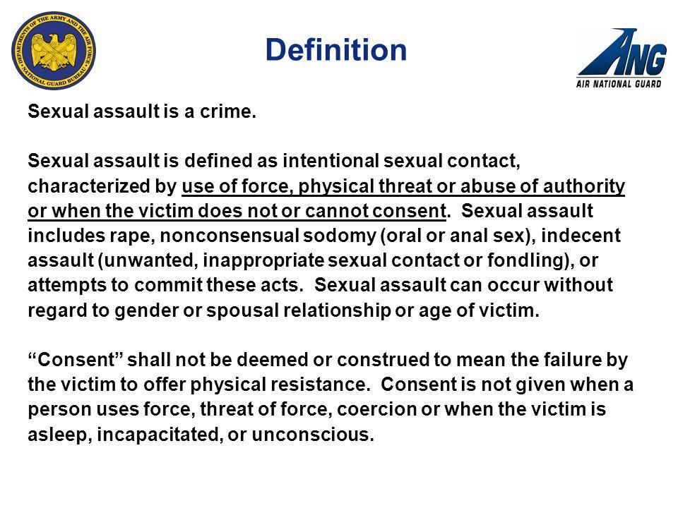 Definition of sex crimes