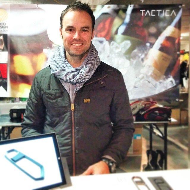 The man himself repping #TacticaGear at #melbournedesignmarket. #industrialdesign #MelbourneDesign