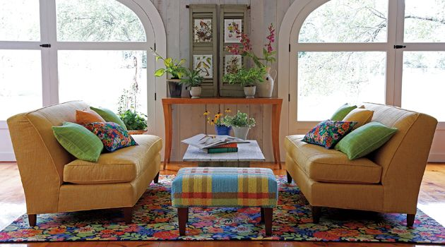 Ordinaire Love The Way They Used The Colros In The Rug And Mixed Patterns: July Rug  Living Room   Contemporary   Living Room   Boston   Company C