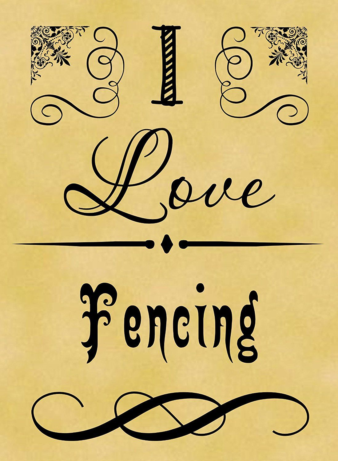 Pack of 12 7cm x 5cm Parchment Gift Tags I Love Sport Fencing ** Read more  at the image link.