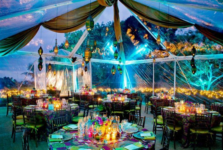 Gartenparty Deko und Beleuchtung - 55 Ideen für Feier am Abend
