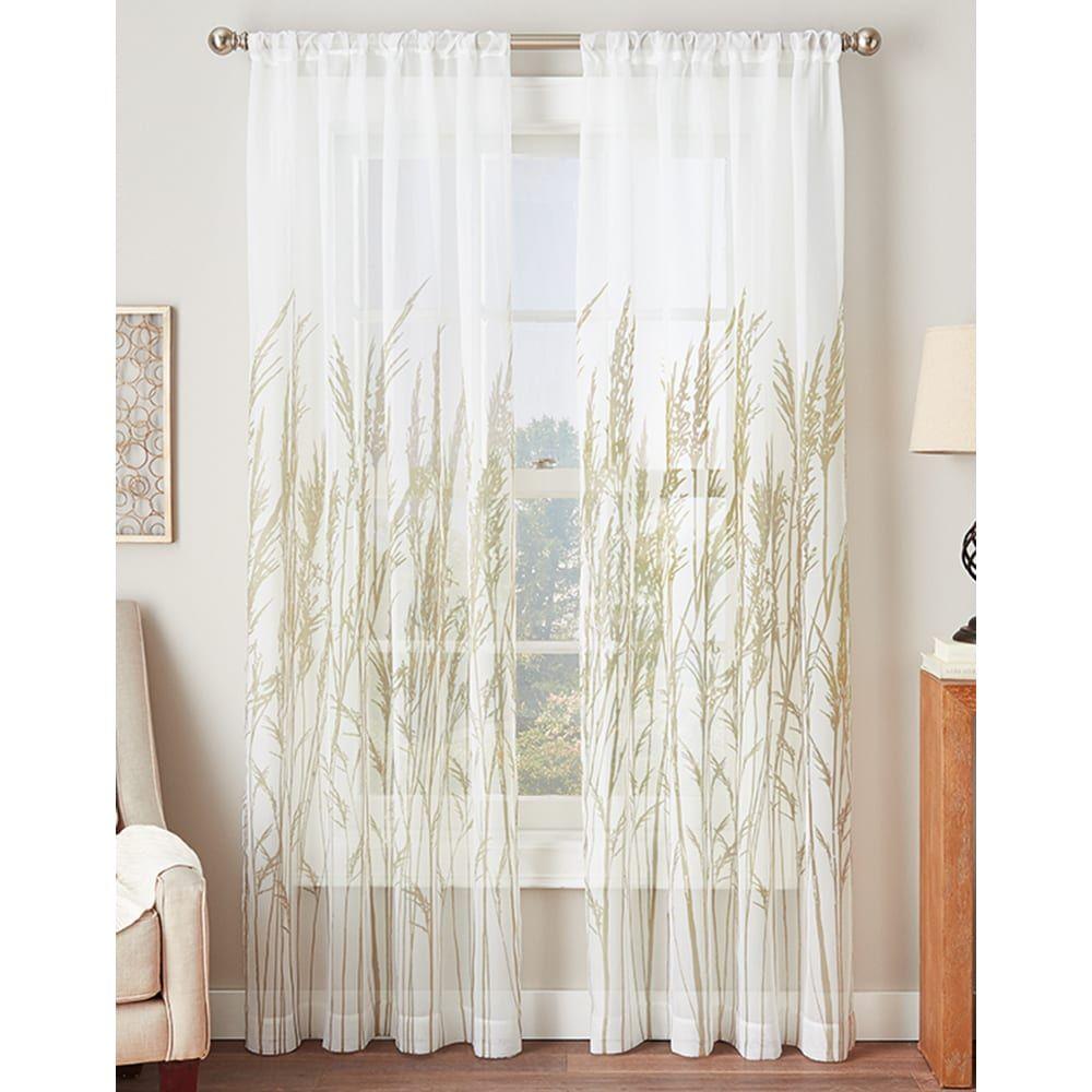 Fields of meadow sheer curtain panel aqua blue sheer curtains