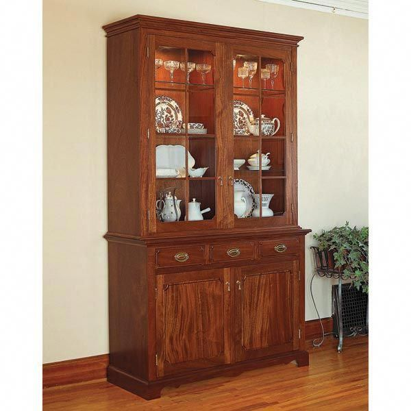 heirloom china cabinet woodworking plan from wood magazine rh pinterest com