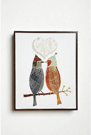 Love Birds Wall Art Bird Wall Art
