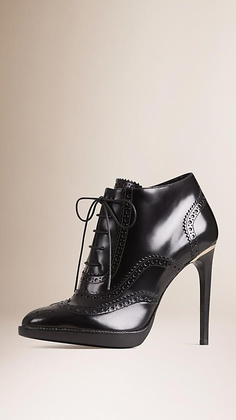 Boots, Burberry boots, Leather ankle boots