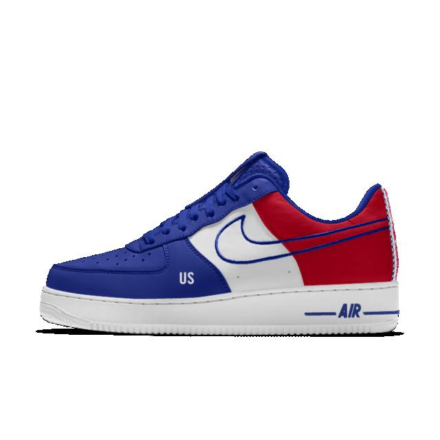 Nike Air Force 1 Low Premium iD (Detroit Pistons) Men's Shoe