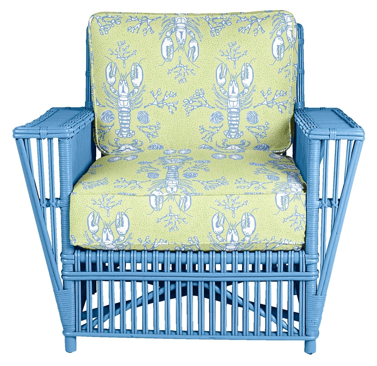 Stella Wicker Arm Chair Maine Cottage Options For Different Colors Fabrics Don T Need The Lobster Print Armchair Chair Wicker Furniture