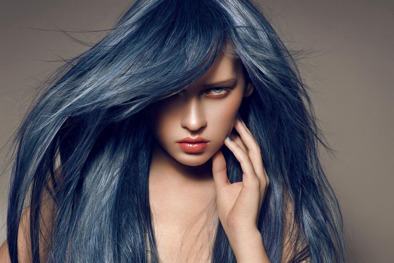 Slate blue hair looks locks pinterest