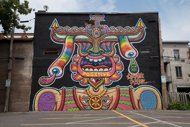 Murale de Montréal menacée par la construction d'un édifice au printemps 2016