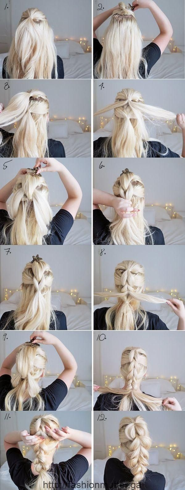 The Chunky Braid Easy Hairstyles Step By Step Hairstyles ...