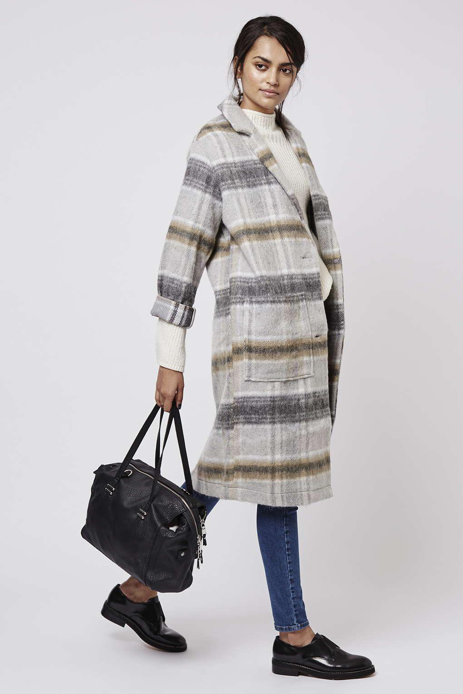 grand choix de 17ecb 626db Manteau en laine mélangée à carreaux - Nouveautés de la ...