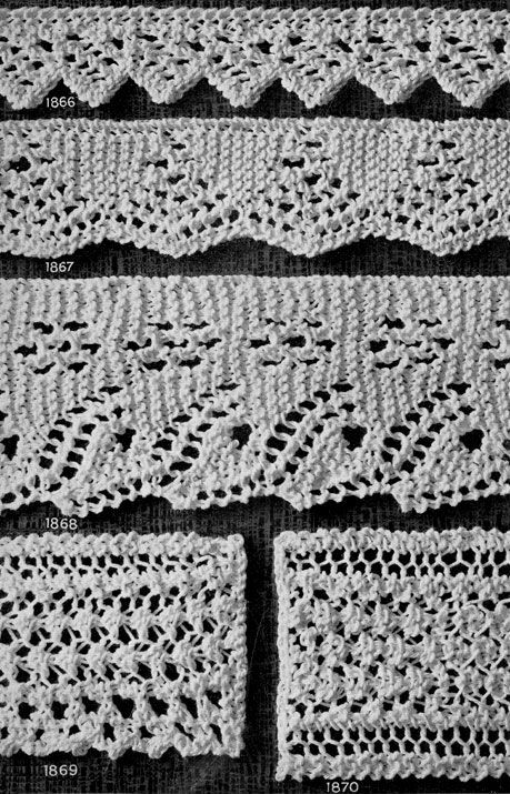 Knitted Edging Patterns Nos 1866 To 1870 Originally Published In