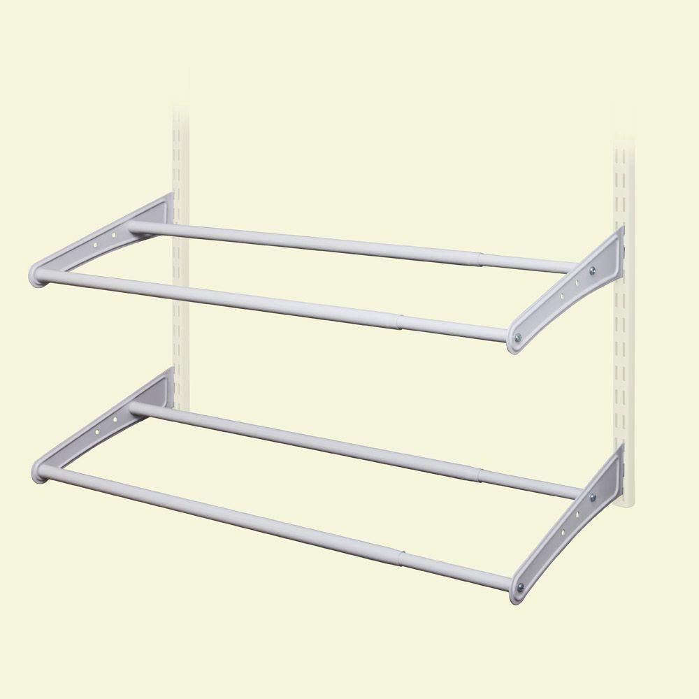 Closetmaid Shelftrack 10 Pair 24 42 In W White Adjustable Shoe