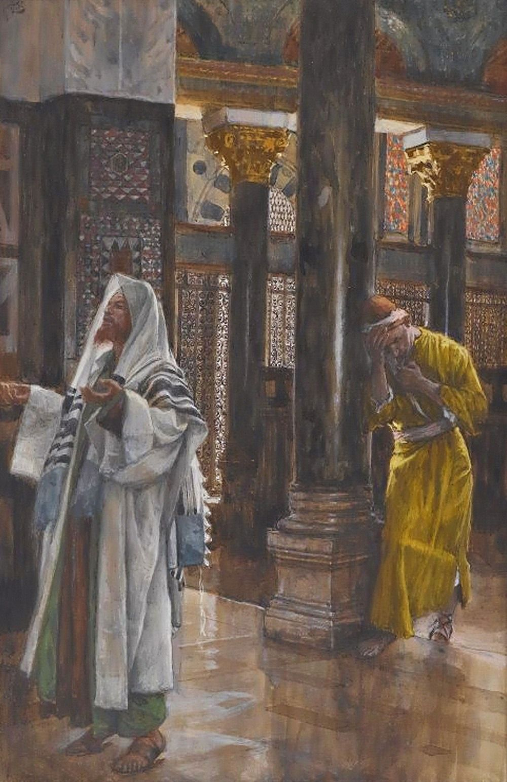 "dramoor: ""Lord Jesus Christ, Son of God, have mercy on me, a sinner. (art: The Pharisee and the Publican, by Tissot, 1894) """