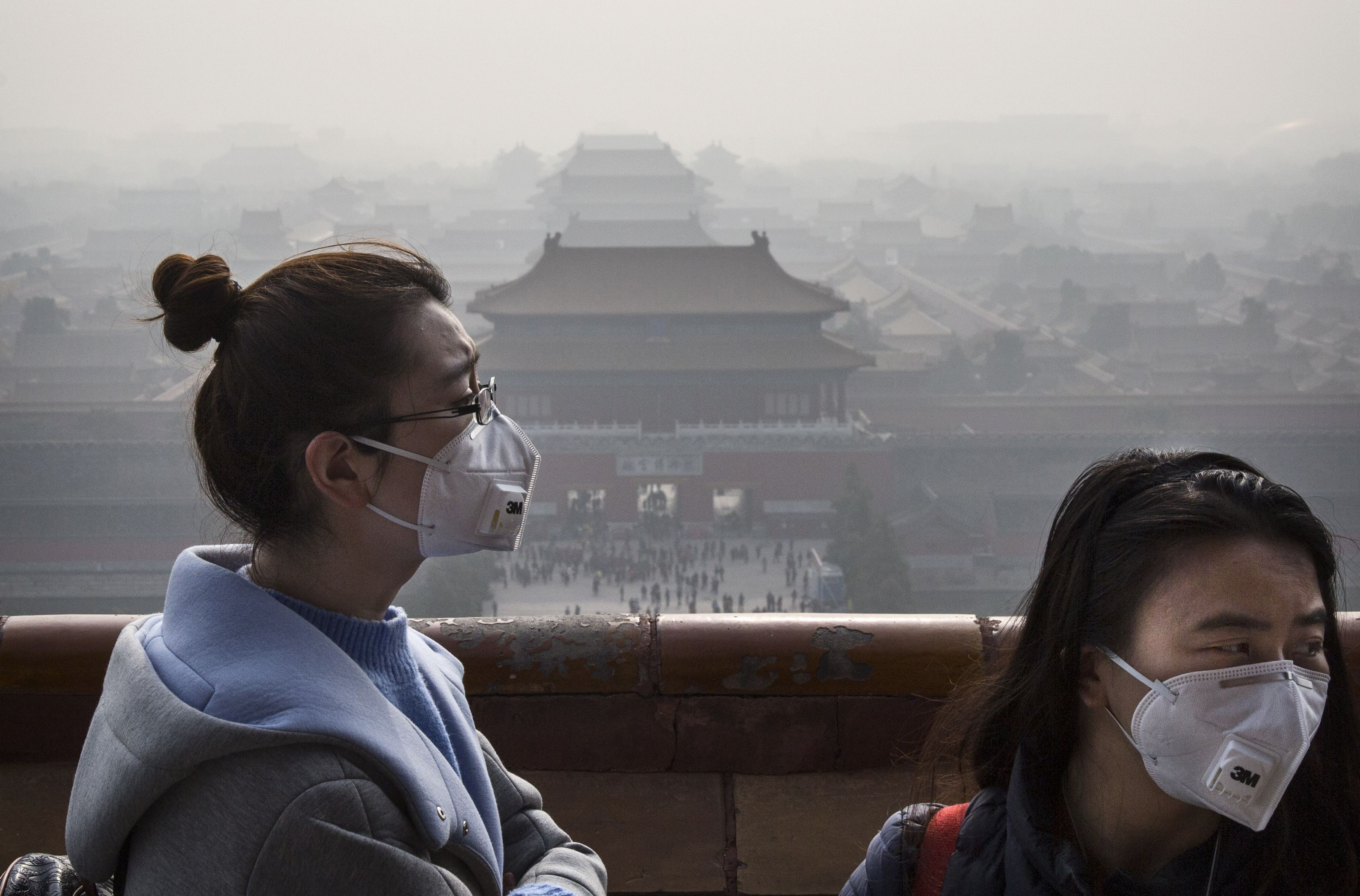Image result for smog Pollution, Beijing, Power to the