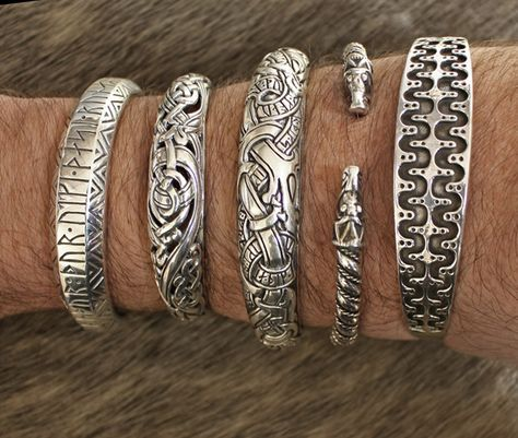 Silver Viking Arm Rings From The Jelling Dragon Jewelry Viking