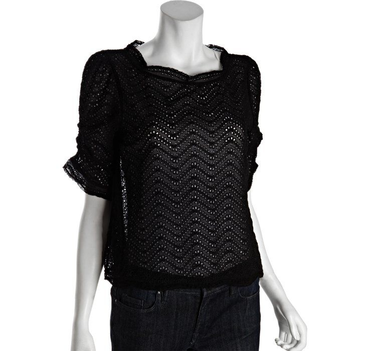 Joie black silk and lace woven 'Fanny B' blouse. I love this one so much.