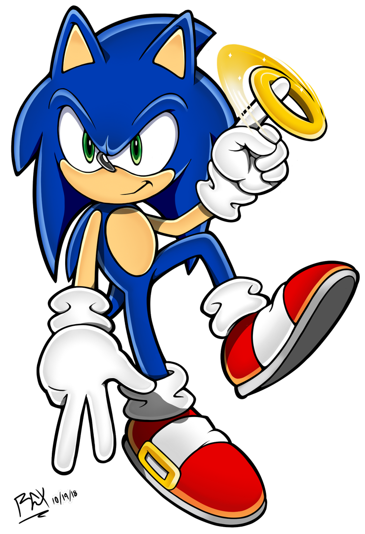 2018 Sonic Channel Sonic With Ring By Rgxsupersonic On Deviantart Sonic Sonic Art Sonic The Hedgehog