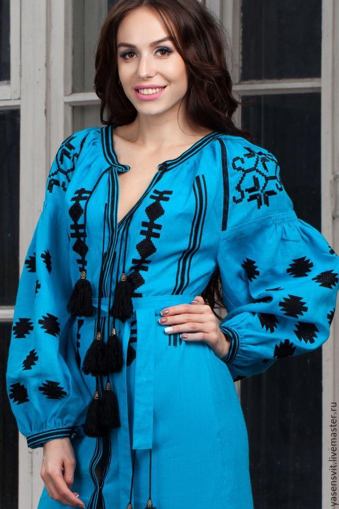 90e21367faa Купить Льняное платье с вышивкой. Платье вышиванка. Вышитое Бохо платье. - вышитое  платье